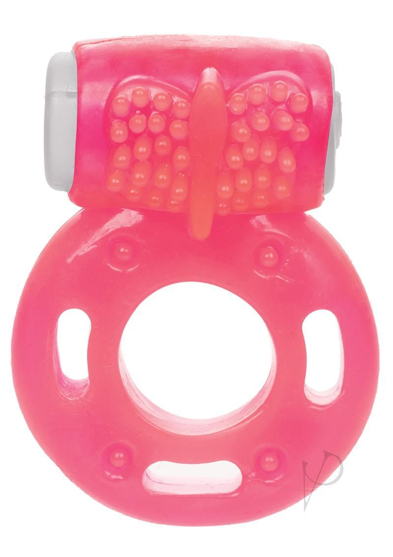Foil Pack Vibrating Cock Ring - Pink